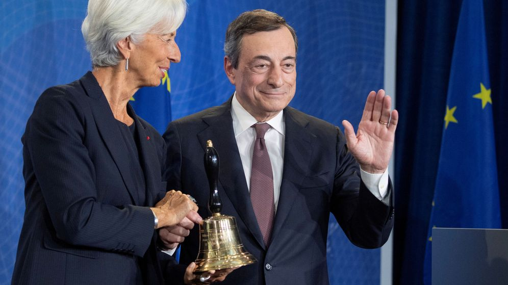 Foto: Christine Lagarde y Mario Draghi. (Reuters)