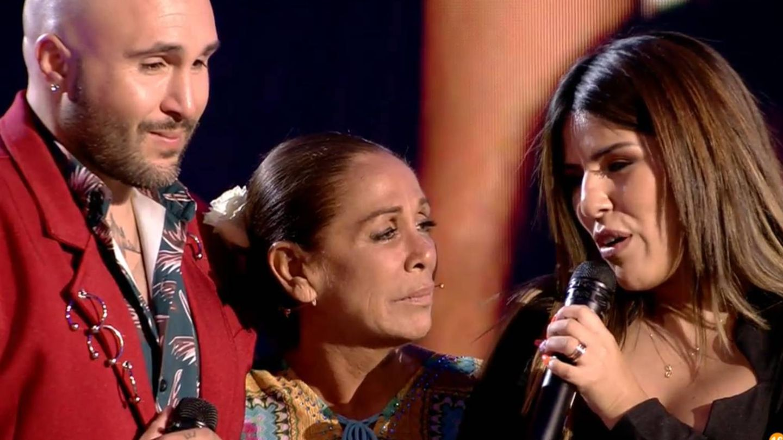 Kiko Rivera, Isabel Pantoja y Chabelita, en 'Supervivientes 2019'. (Telecinco)