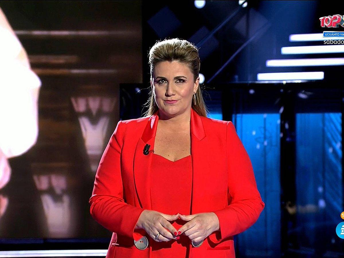 Foto: Carlota Corredera, en 'Rocío, contar la verdad'. (Mediaset)