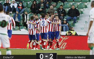 El Atlético encuentra en el Elche un sparring para la Champions