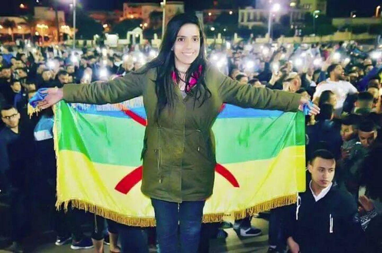 Silya, durante una de las manifestaciones en el Rif