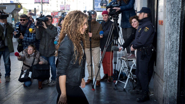 Shakira, en los juzgados de Madrid acusada de plagio. (EFE)