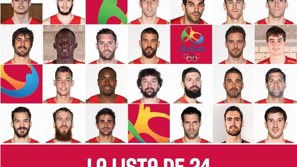 De estos 24 jugadores saldrán los 12 de España para los Juegos de Río