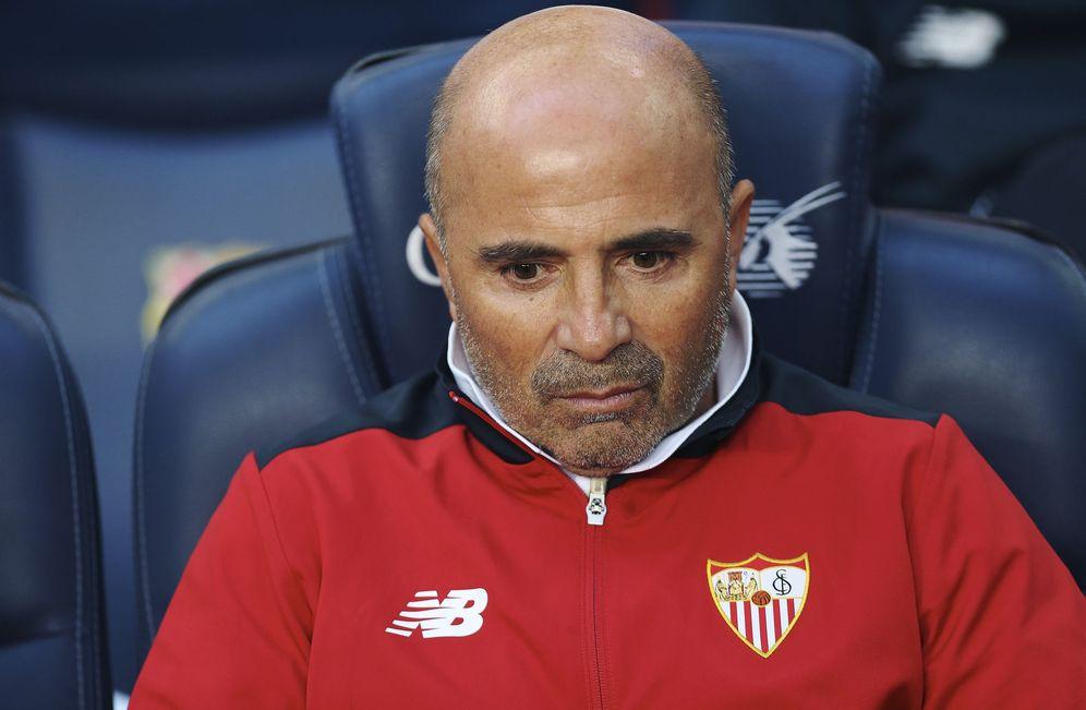 Foto: Jorge Sampaoli tiene decidido desde hace días abandonar el Sevilla al acabar la actual temporada. (EFE)