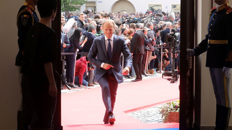 Donald Tusk a su llegada a la reunión informal. (Reuters)