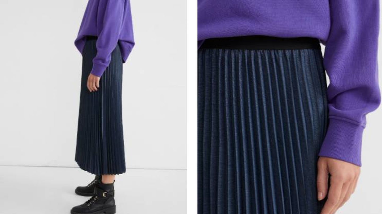 Falda plisada de Parfois. (Cortesía)
