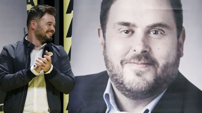 El cabeza de lista al Congreso por ERC, Gabriel Rufián. (EFE)