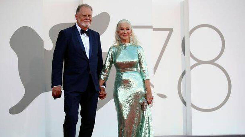 Helen Mirren y su marido, Taylor Hackford. (Reuters)