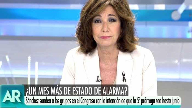 Ana Rosa Quintana estrena cambio de look y corte de pelo en antena. (Mediaset)