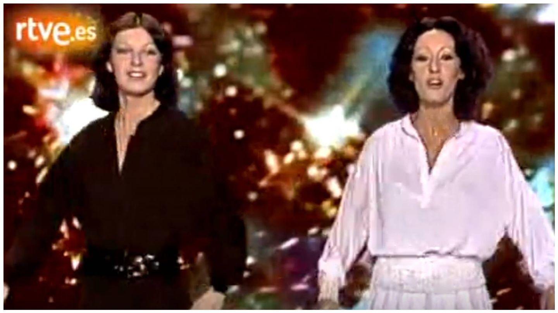 Actuación de Baccara en la gala de Fin de Año de TVE en 1977. (RTVE)