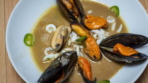 La receta que no te esperas: mejillones con calamares, horchata y café