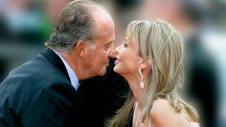 El rey Juan Carlos y Corinna Larsen, en una imagen de archivo. (EFE)