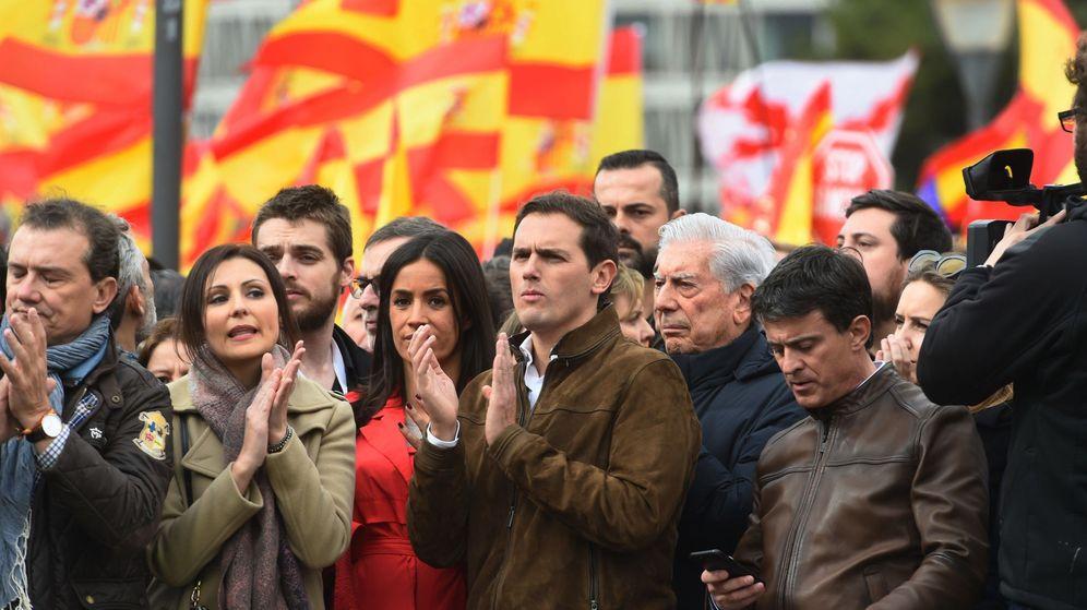 Foto: Albert Rivera en la manifestación de ayer. (EFE)