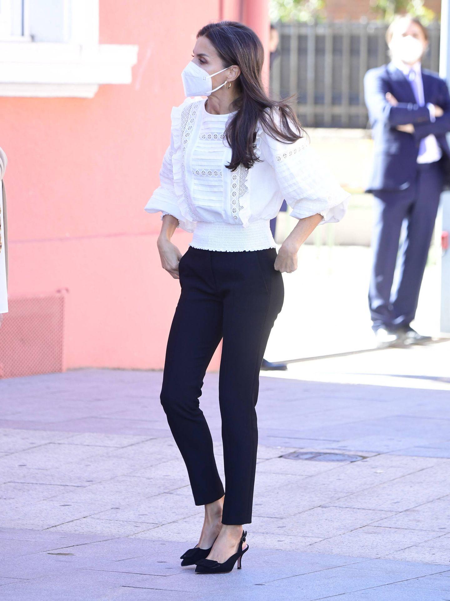 El look de la reina Letizia en Haro. (LP)