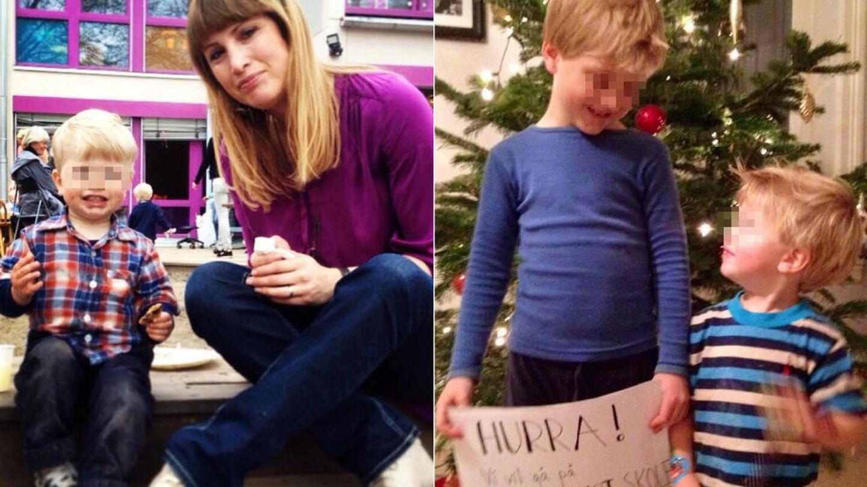 Eva Sannum, junto a sus hijos cuando eran más pequeños. (Twitter)