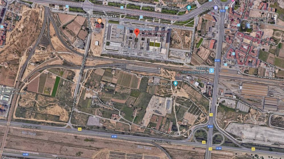 Foto: Solar adquirido junto al Hospital de Valencia.