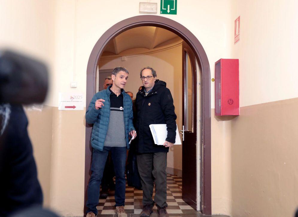 Foto: Quim Torra, a su llegada al monasterio de Montserrat en Barcelona, el pasado 9 de diciembre. (EFE)