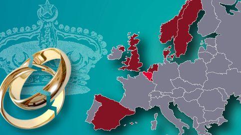 El mapa de los divorcios reales en Europa: solo se salva Bélgica  (de momento)