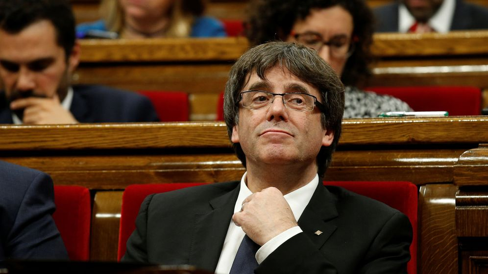 Foto: Carles Puigdemont durante el pleno del 10-O (Foto: Reuters)