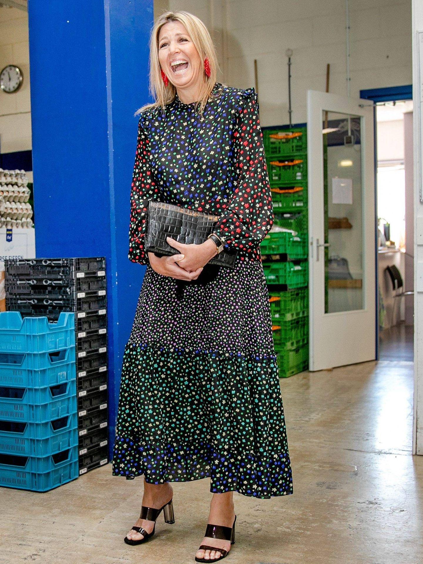 La reina Máxima visita el Banco de Alimentos la semana pasada. (Cordon Press)