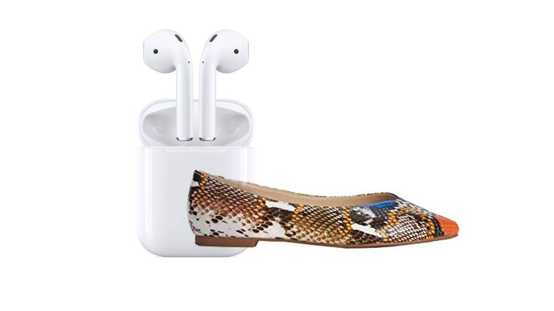 Bailarinas de Parfois y AirPods de Apple. (Cortesía)