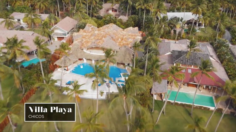 Imagen aérea de Villa Playa, la residencia de los chicos en República Dominicana. (Captura de Mediaset)