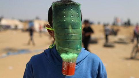 Máscaras antigás caseras en Gaza