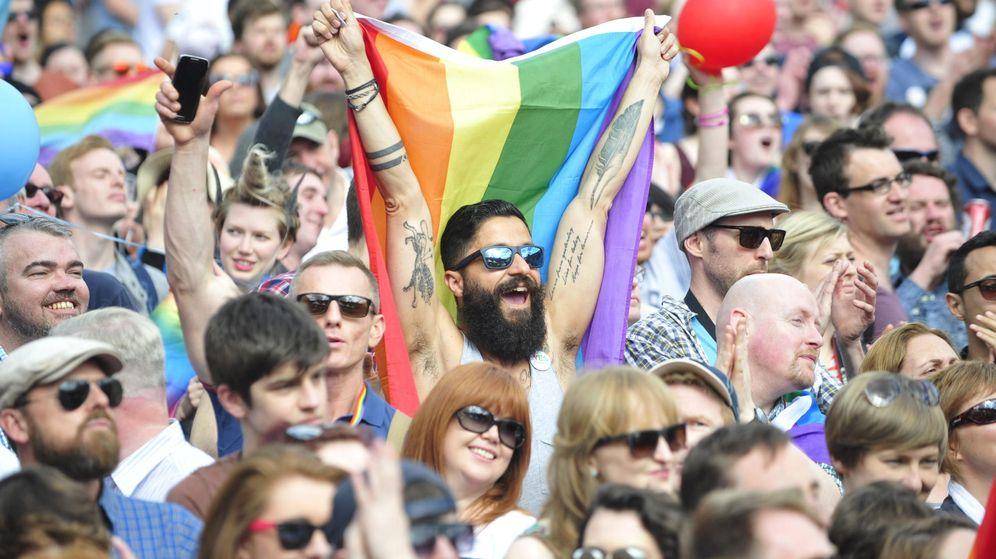 Foto: Irlandeses celebran en Dublín la llegada de los primeros resultados oficiales. (EFE)