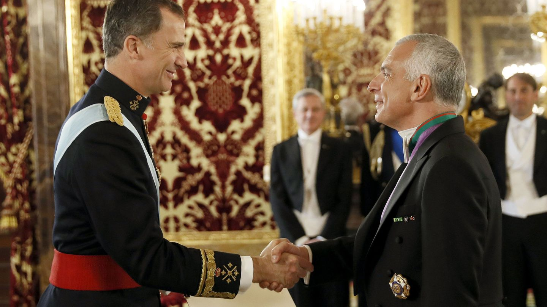 Stefano Sannino, durante la presentación de sus cartas credenciales al rey Felipe VI, en el Palacio Real. (EFE/Chema Moya)