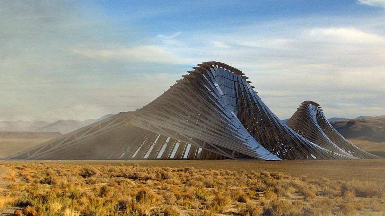 Una montaña solar para darle energía a uno de los 'fiestorros' del año