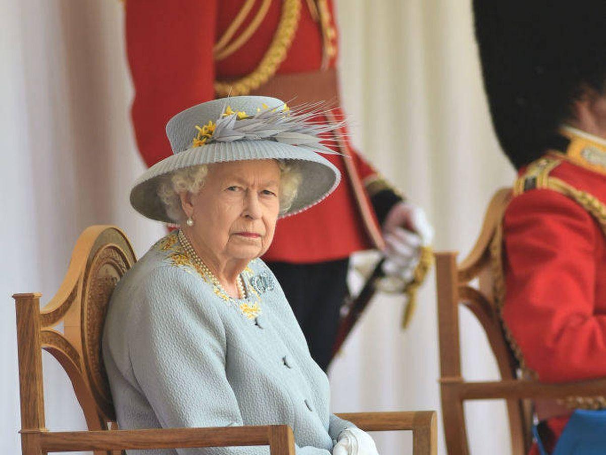 Foto: Isabel II en el Trooping The Colour 2021. (Getty)