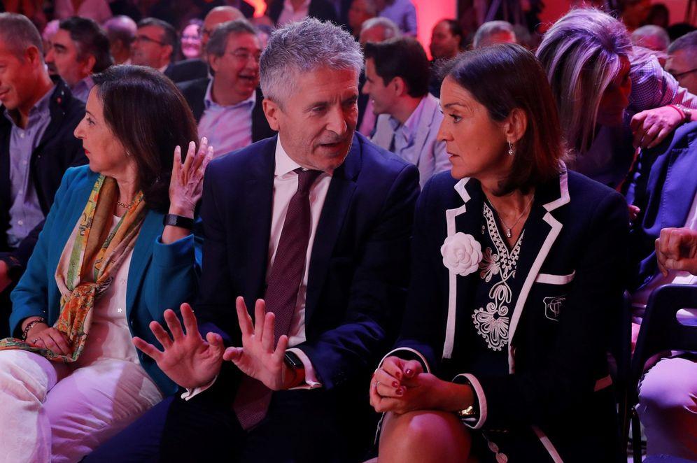 Foto: Fernando Grande-Marlaska y Reyes Maroto, ministros en funciones de Interior y de Industria, Comercio y Turismo, este 30 de septiembre. (EFE)