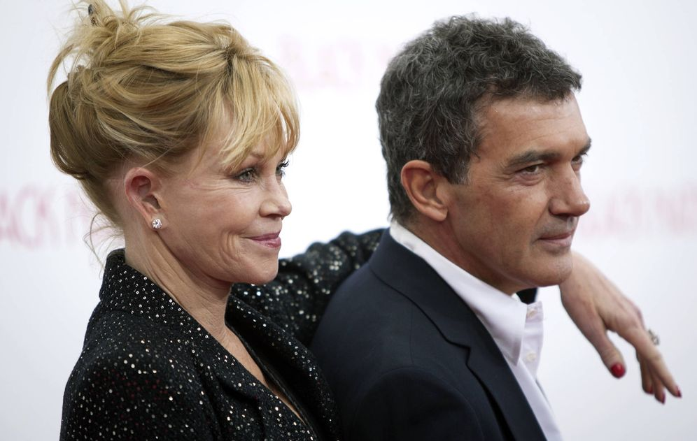 Foto: Banderas y Griffith en un estreno de 2014. (Reuters)