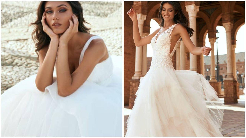 Vestidos de la nueva colección de Marchesa for Pronovias. (Cortesía)