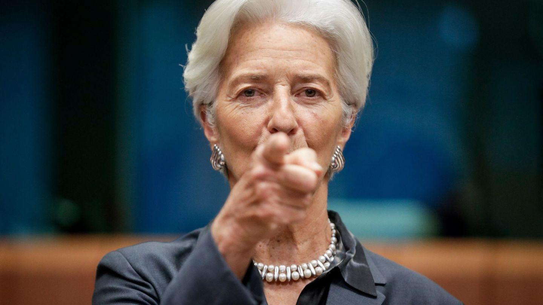 La presidenta del BCE, Christine Lagarde, en la última reunión del Eurogrupo. (EFE)
