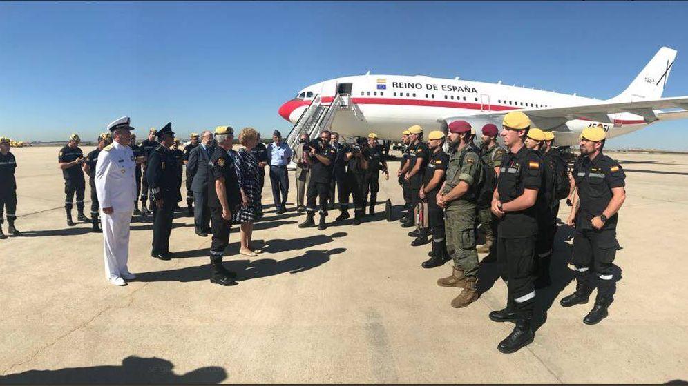 Foto: Miembros de la UME desplazados a México para ayudar en las tareas de rescate. (Twitter)