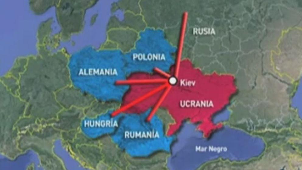 Telemadrid sitúa Alemania en Polonia para ilustrar una noticia