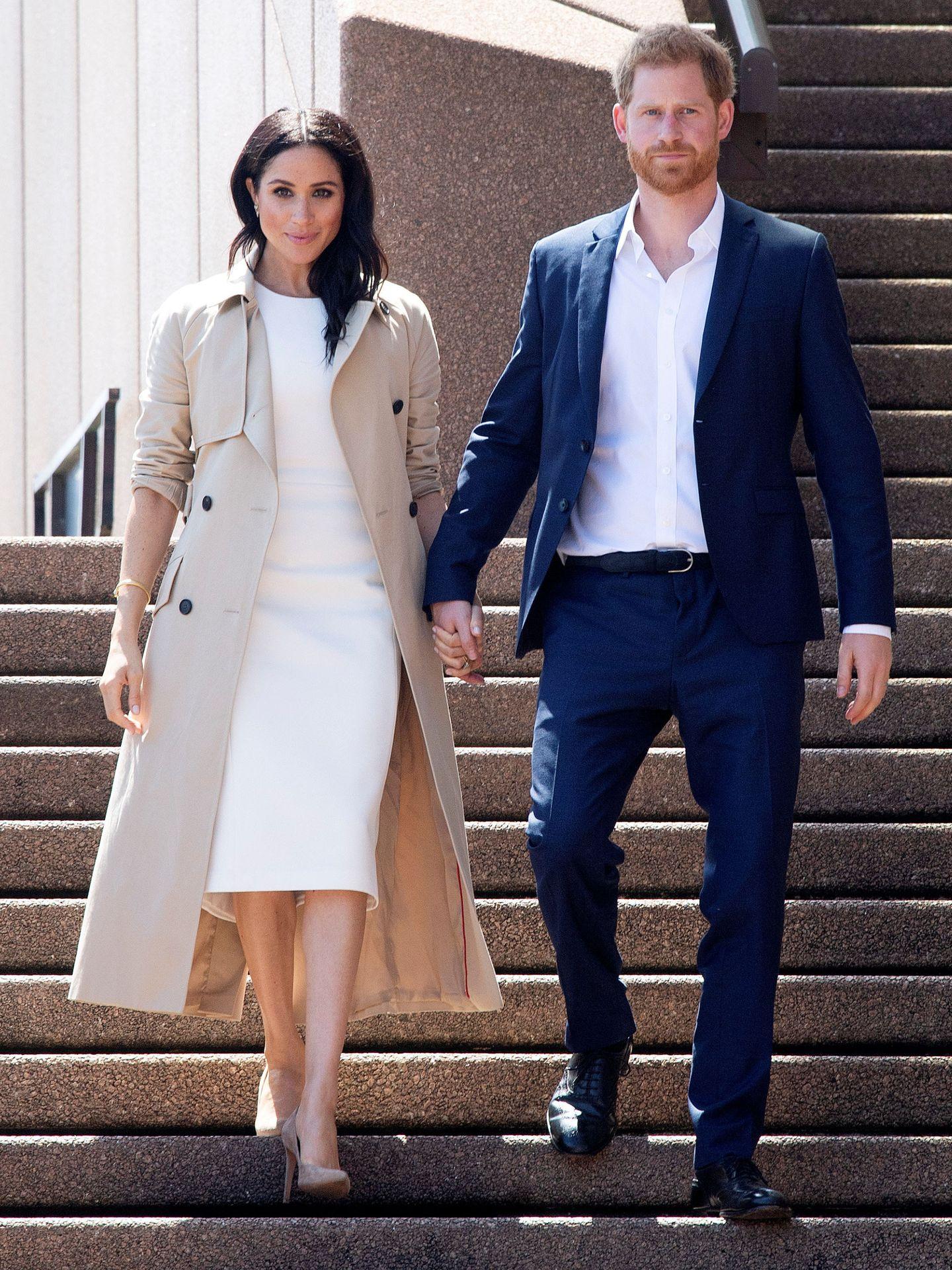 Los duques en la ópera de Sídney. (Reuters)