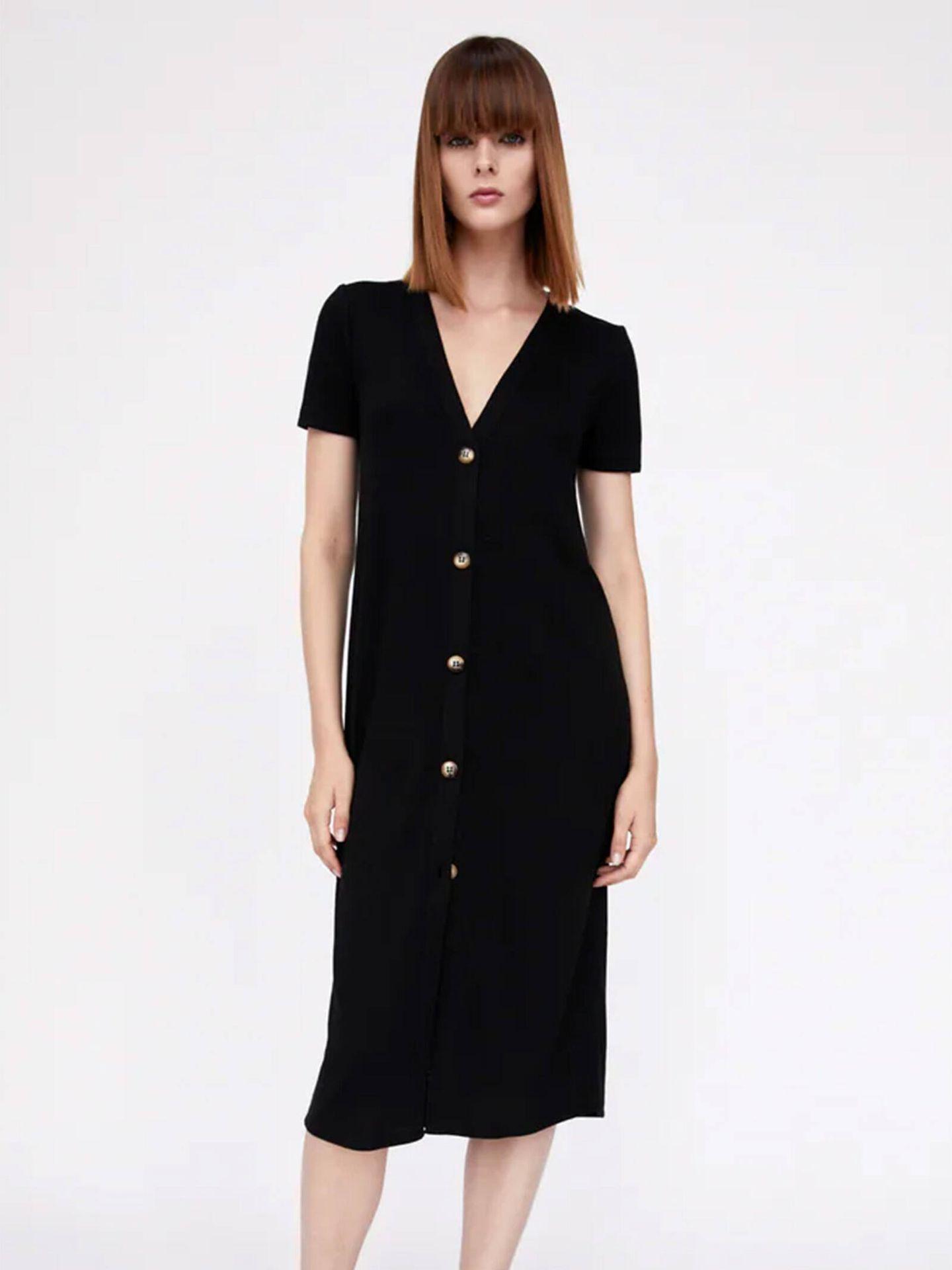 La nueva versión del vestido de Zara que ha llevado Isabel Díaz Ayuso. (Cortesía)
