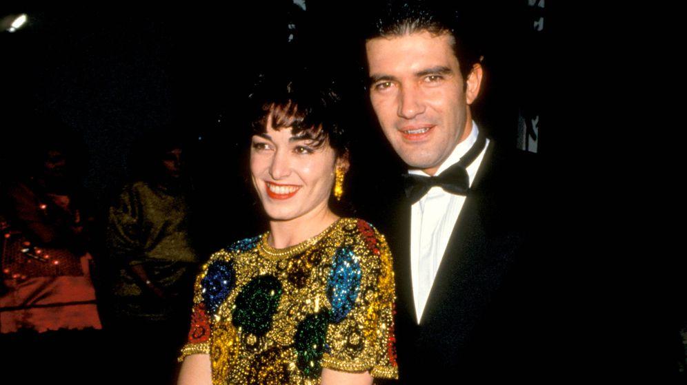Foto: Ana Leza y Antonio Banderas, en los años 90. (Getty)