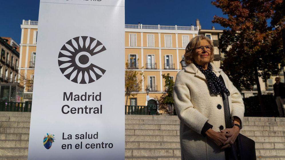 Foto: La alcaldesa de Madrid, Manuela Carmena, en el acto de arranque de Madrid Central. (EFE)