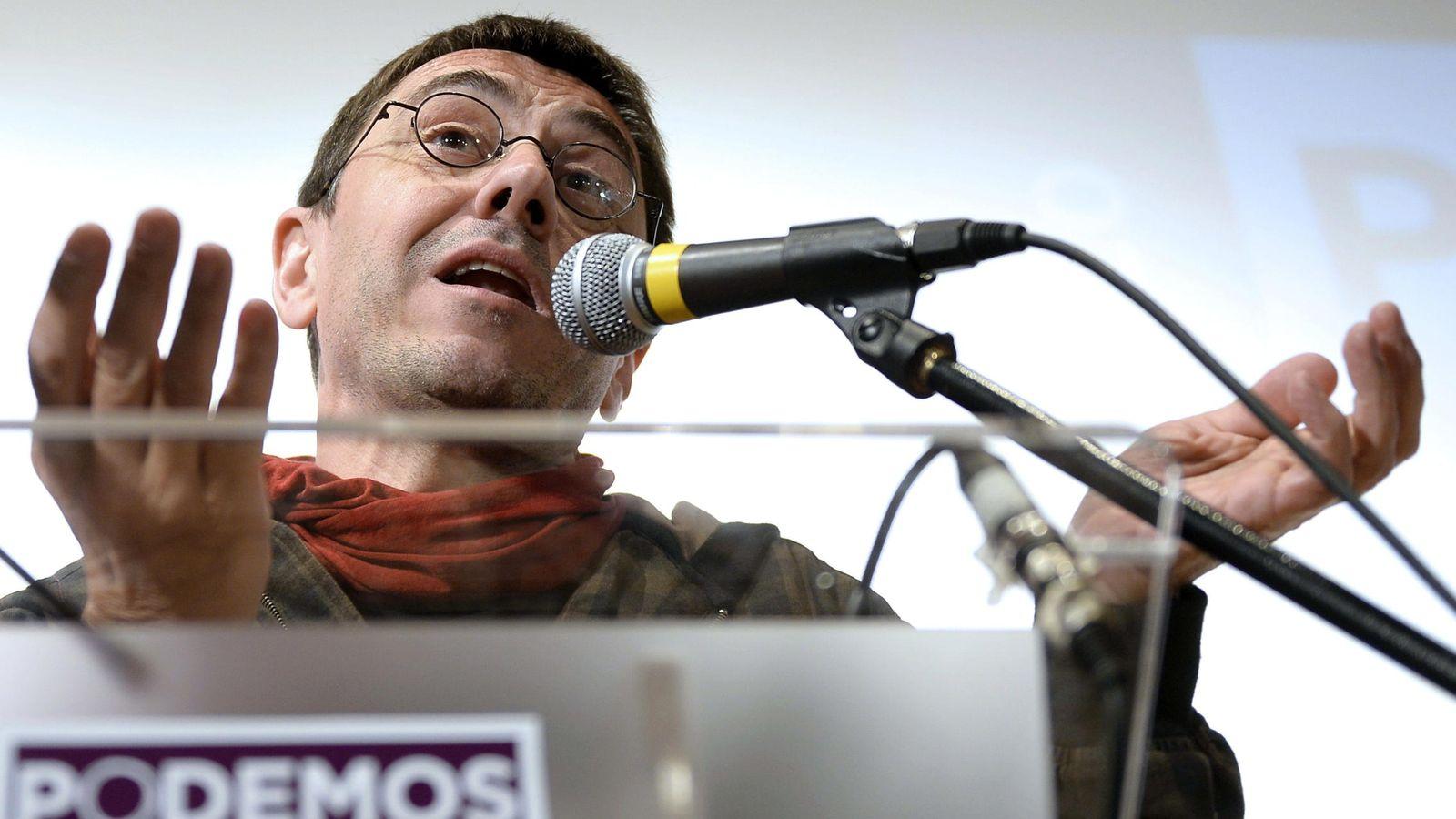 Foto: Juan Carlos Monedero, secretario de Proceso Constituyente y programa de Podemos. (EFE)