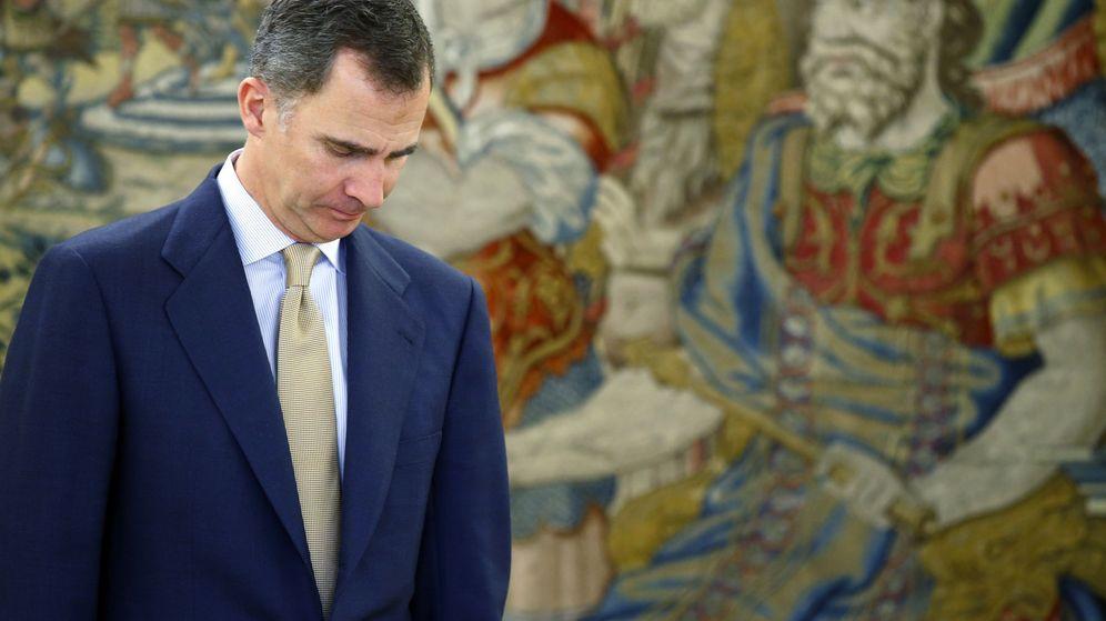 Foto: El rey Felipe VI durante su ronda de contactos con los distintos líderes. (Efe)