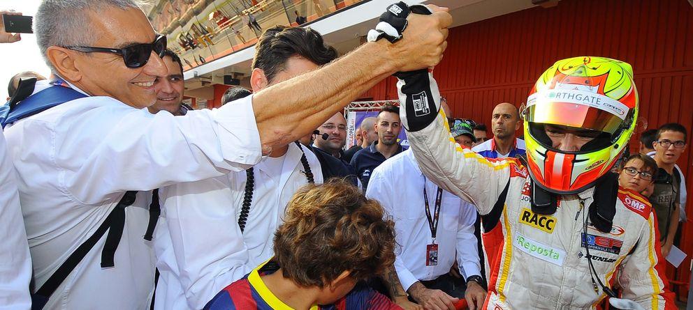 Foto: Álex Palou antes de subir al podio