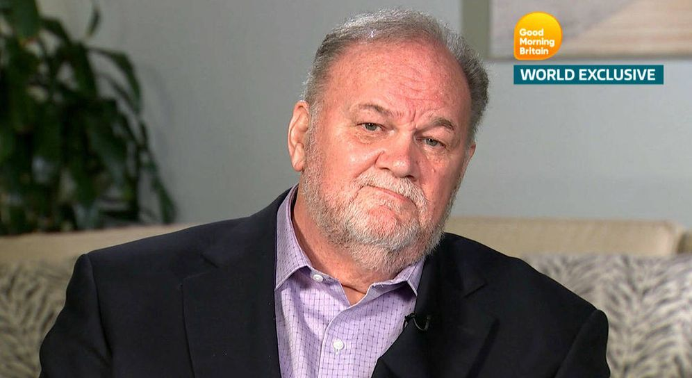 Foto: Thomas Markle durante su entrevista en 'Good Morning Britain'.