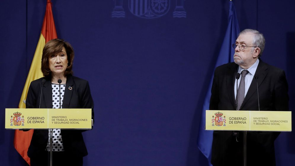 Foto: Yolanda Valdeolivas y Octavio Granado presentan en rueda de prensa los datos de paro de enero