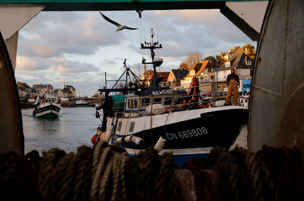 Foto: Pesqueros franceses regresan al Port-en-Bessin-Huppain tras pescar vieiras en el Canal de la Mancha. (Reuters)