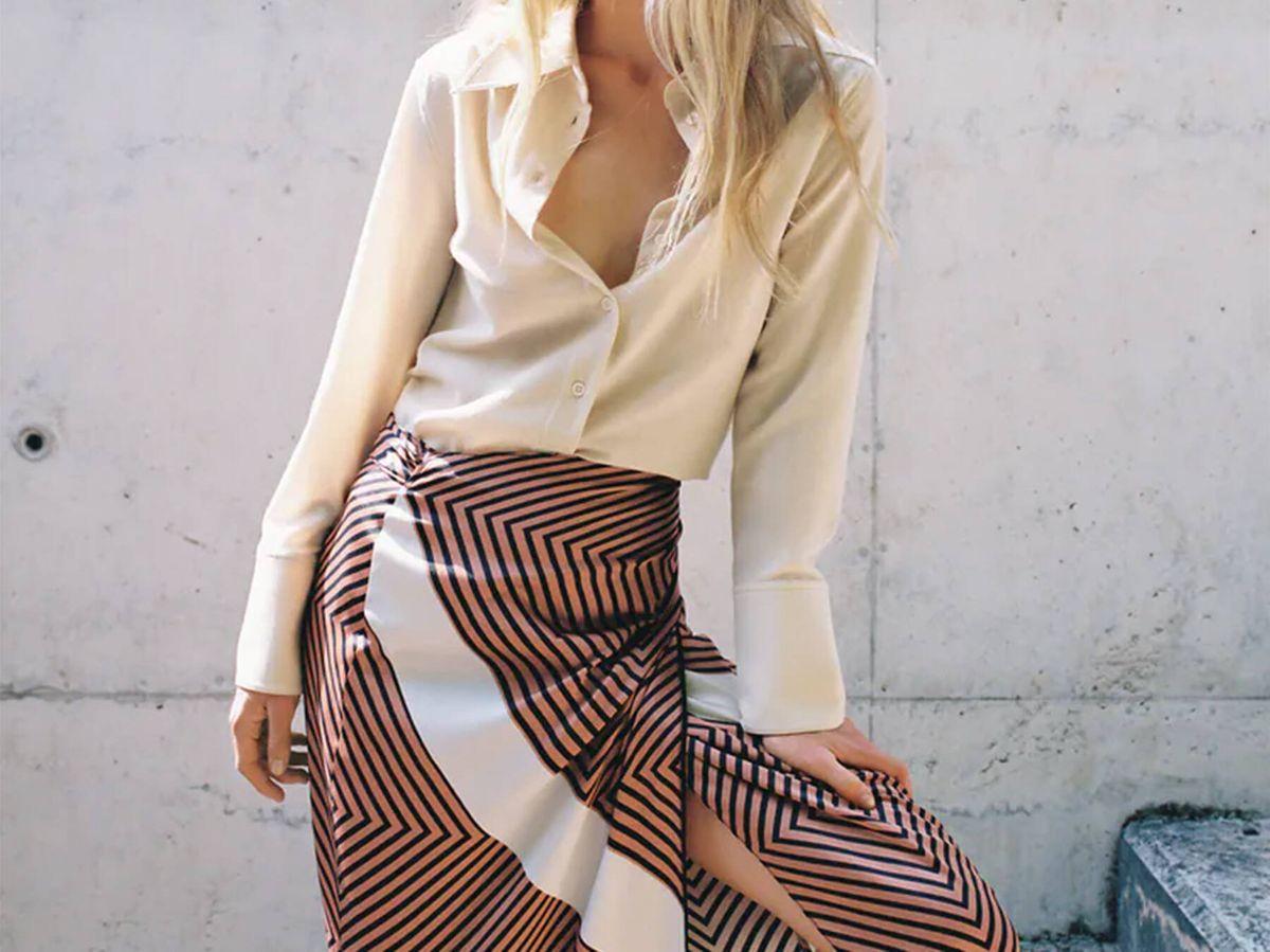Foto: La falda pareo de Zara que puedes llevar en otoño. (Cortesía)