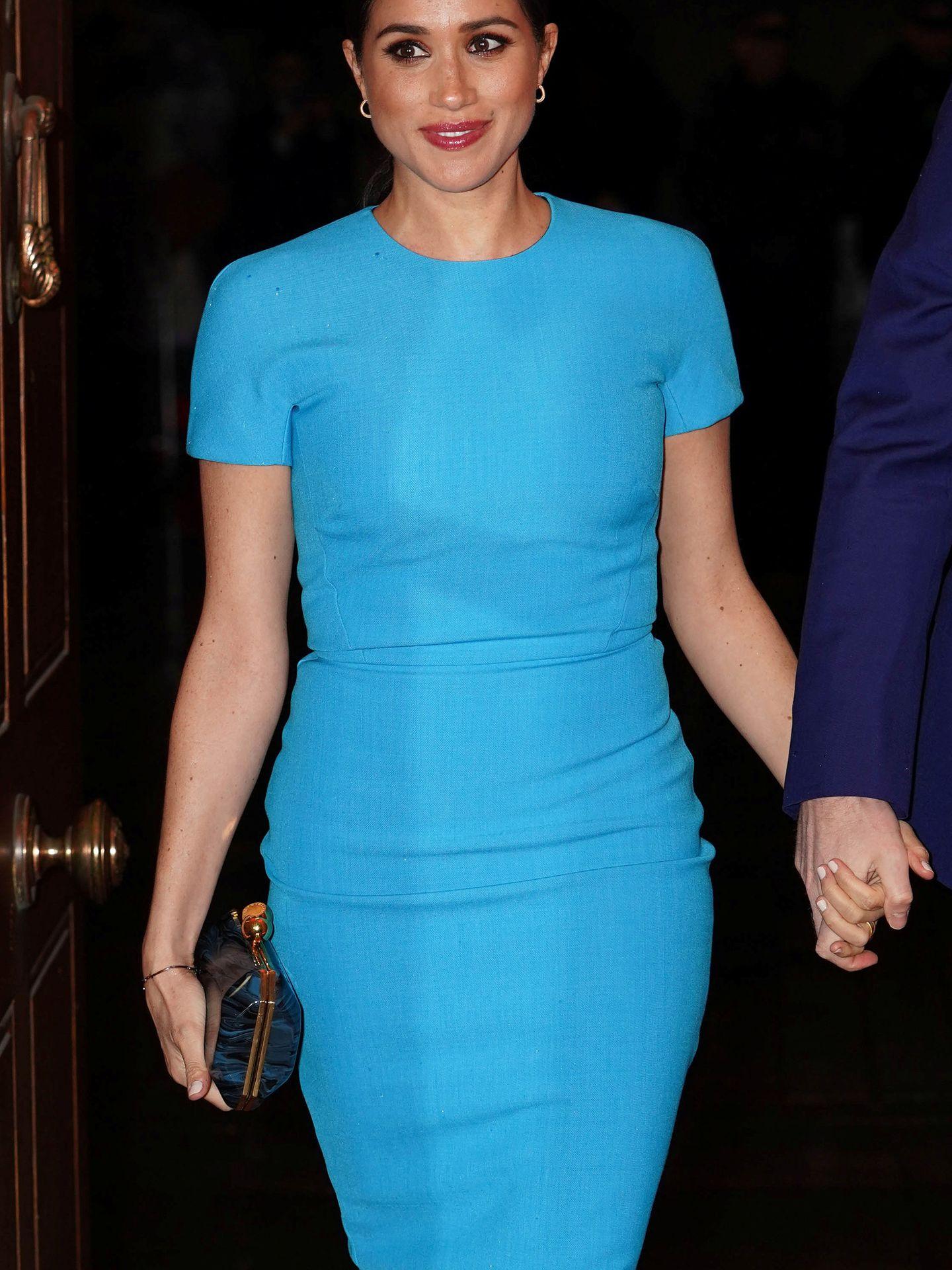Meghan Markle, con el vestido de Victoria Beckham. (Reuters)