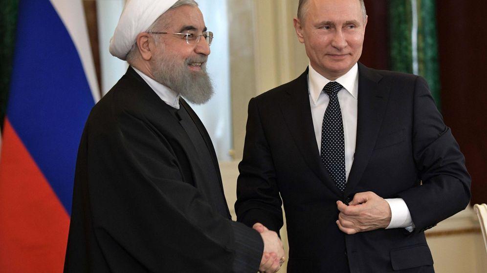 Foto:  Los presidentes de Rusia, Vladímir Putin, e Irán, Hasan Rohaní. (EFE)